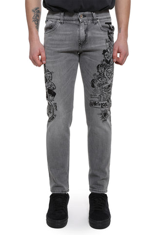 Dolce & Gabbana Love Printed Jeans