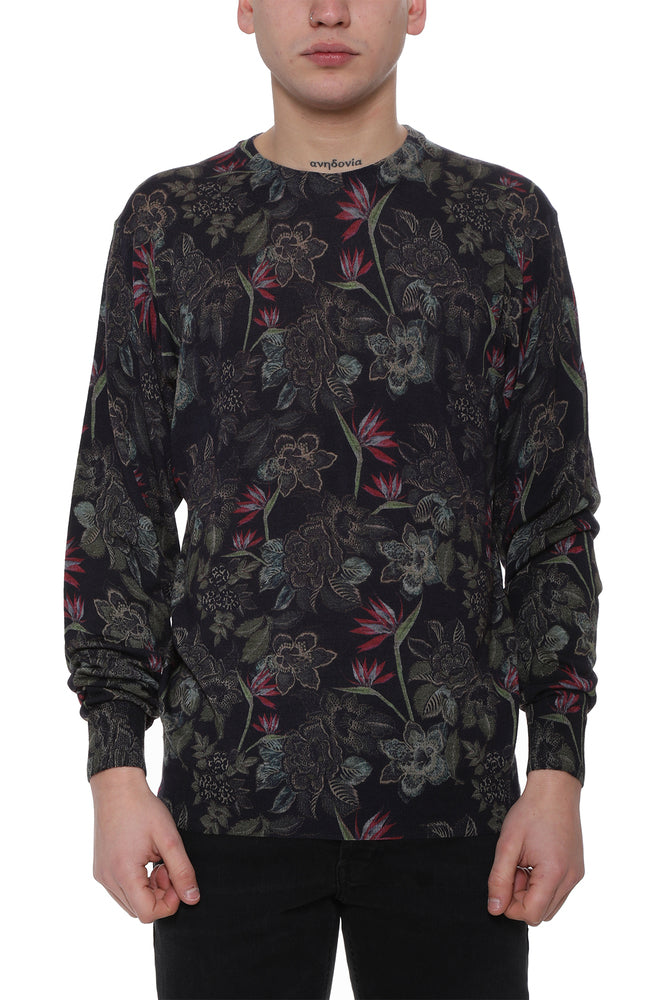 Etro Knits ETRO FLORAL KNIT JUMPER