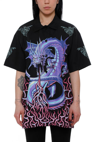 Mm6 Maison Margiela Dragon Print Shirt