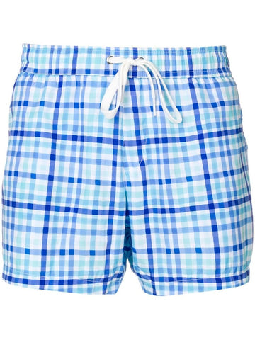 Moschino Checked Swim Shorts