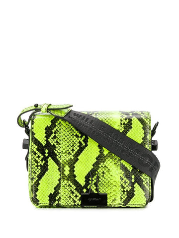 Off-White Binder Clip Snakeskin Effect Shoulder Bag