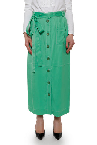 See By Chloé Button Up Maxi Skirt