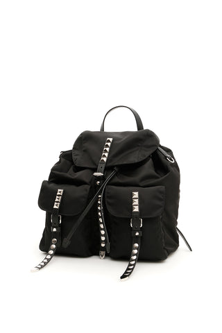 Prada New Vela Studded Backpack