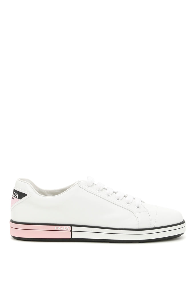 27ea00fcfee984 Prada Leather Low-Top Sneakers – Cettire