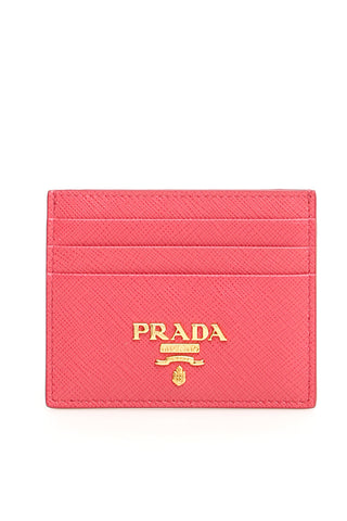Prada Logo Leather Card Holder