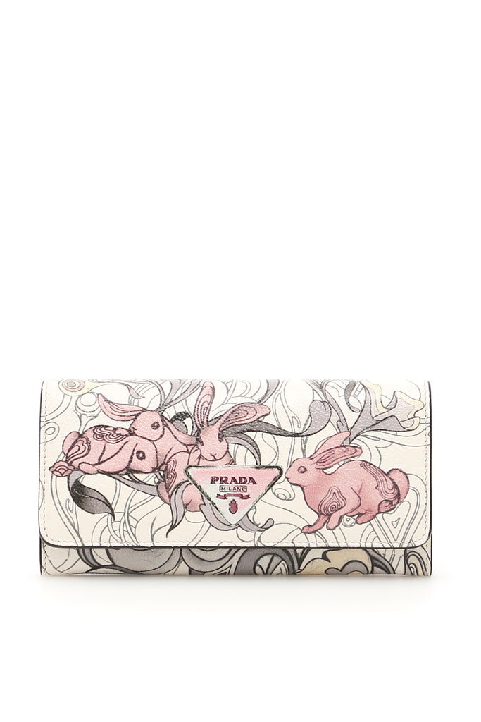 79af857866db00 Prada Rabbit Print Leather Wallet – Cettire