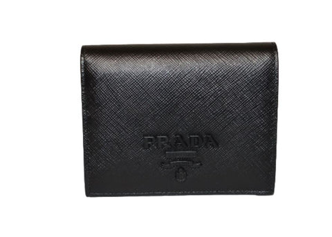 Prada Saffiano Leather Folding Wallet