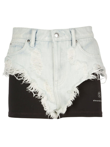 Alexander Wang Distressed Layered Shorts