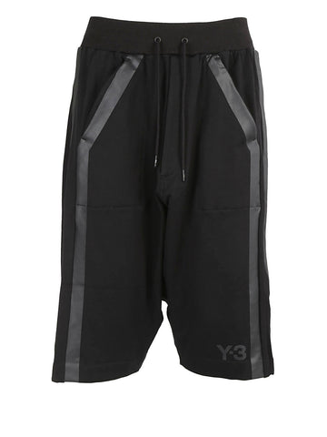 Y-3 Stripe Drop-Crotch Shorts