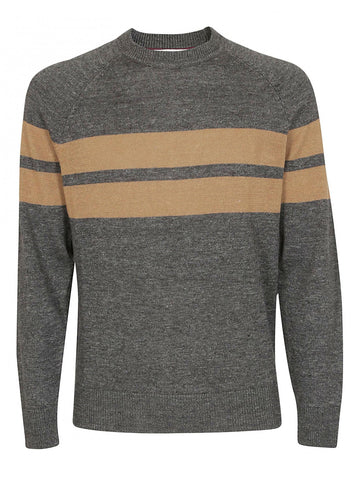 Brunello Cucinelli Contrast Stripe Sweater