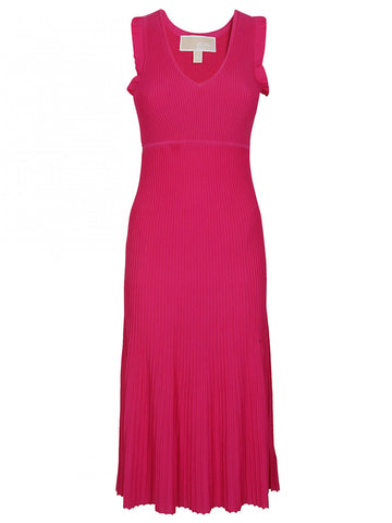 Michael Kors Ribbed Pleated Dress
