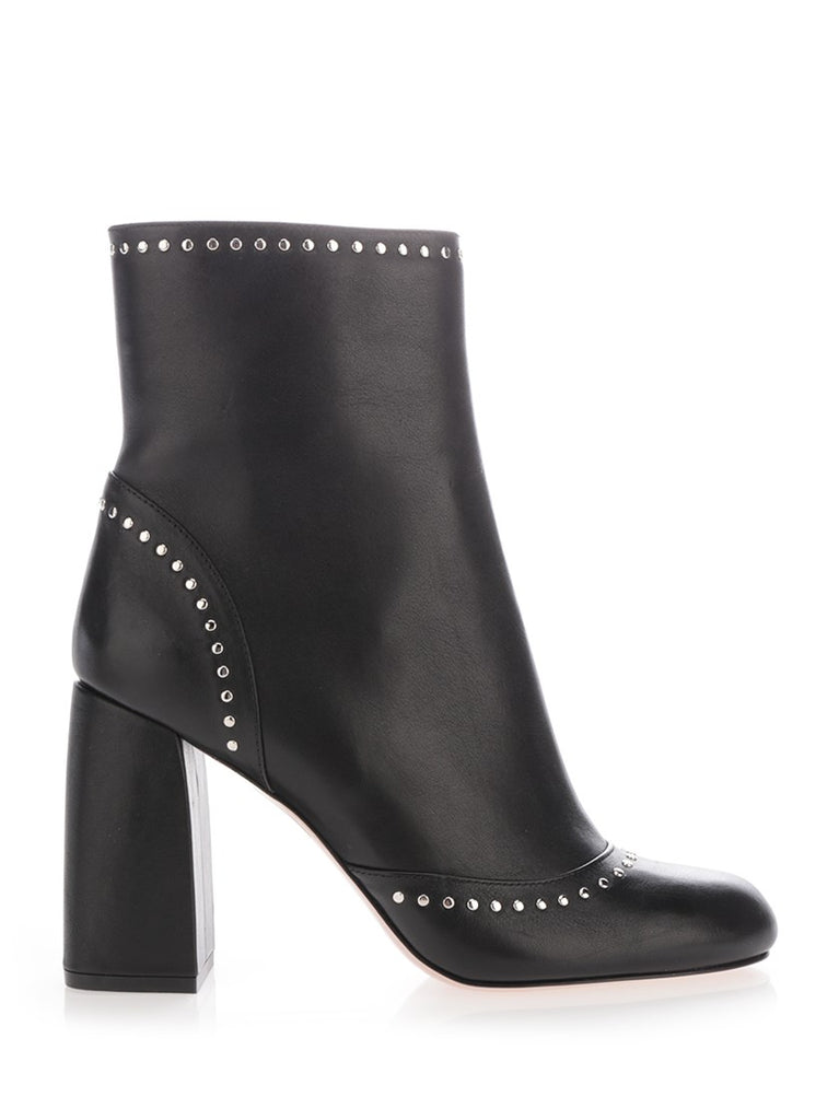 320263a436e Red Valentino Studded Block Heel Boots – Cettire