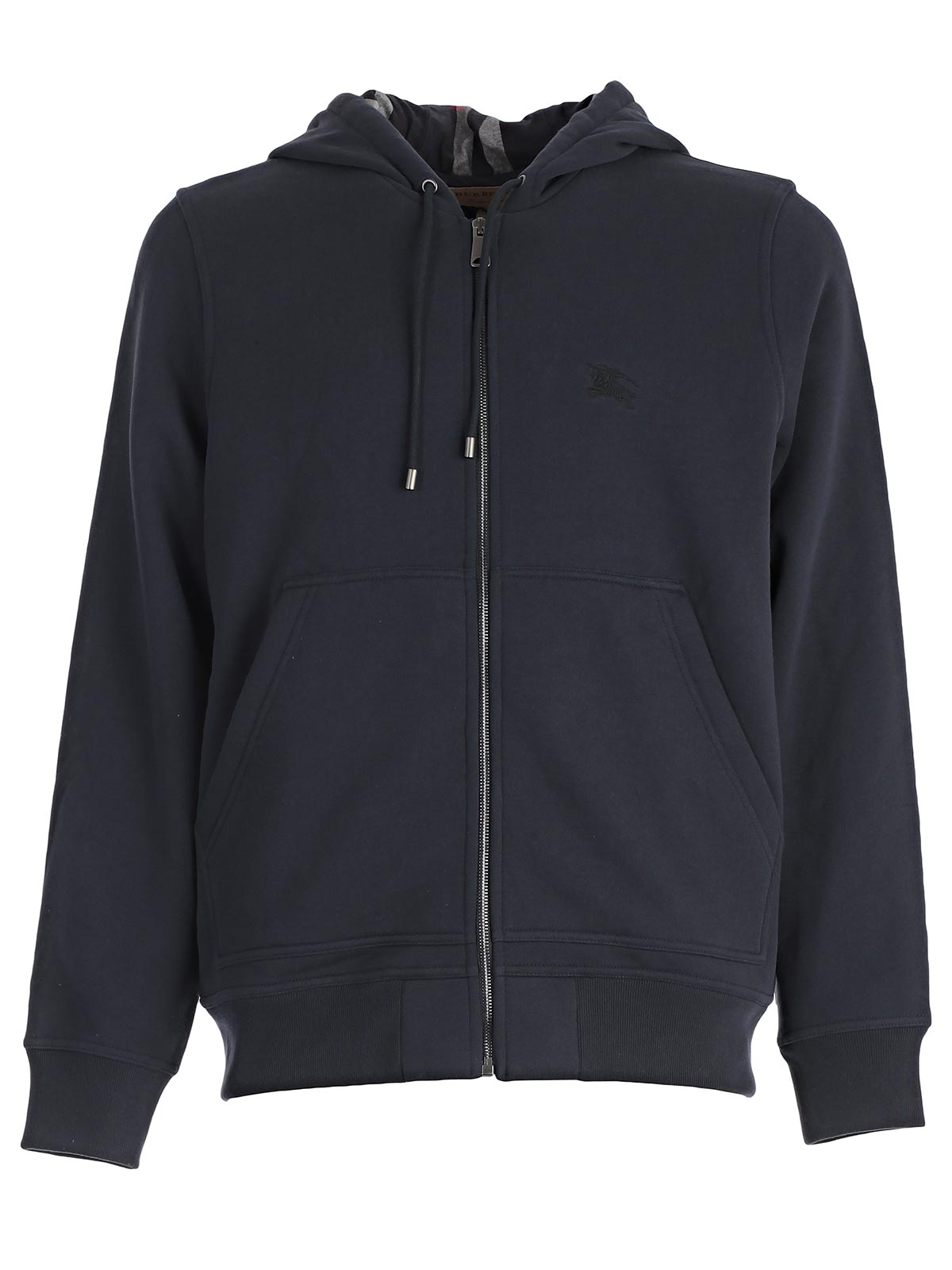 36f1e904d76a Burberry Cotton-Blend Jersey Zip-Up Hoodie In Blue