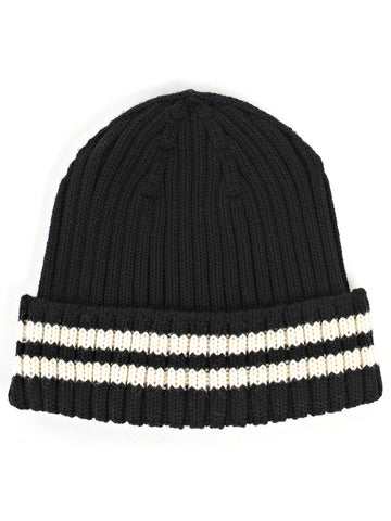 Junya Watanabe Comme Des Garçons Striped Turn Up Knit Beanie