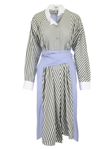 Loewe Asymmetric Striped Shirtdress