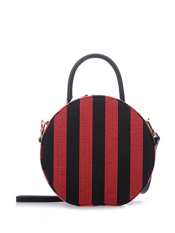 Mansur Gavriel Striped Circle Crossbody Bag