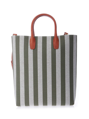 Mansur Gavriel Striped North South Tote Bag