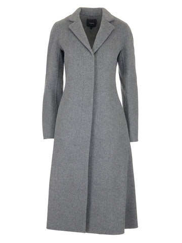 Theory Single-Breasted Plain Coat