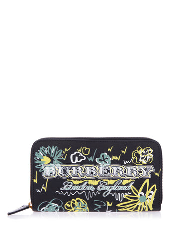 Burberry Graffiti Print Wallet