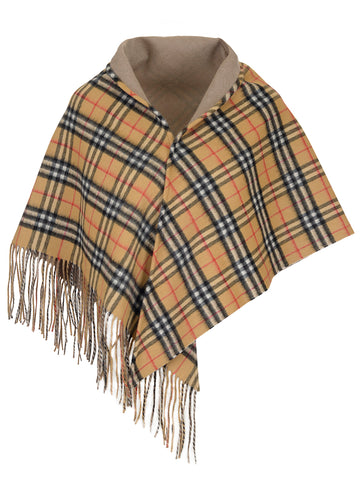 Burberry Small Check Cashmere Shawl