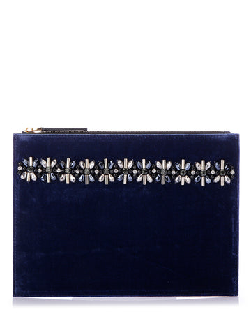 Marni Embroidered Suede Pouch