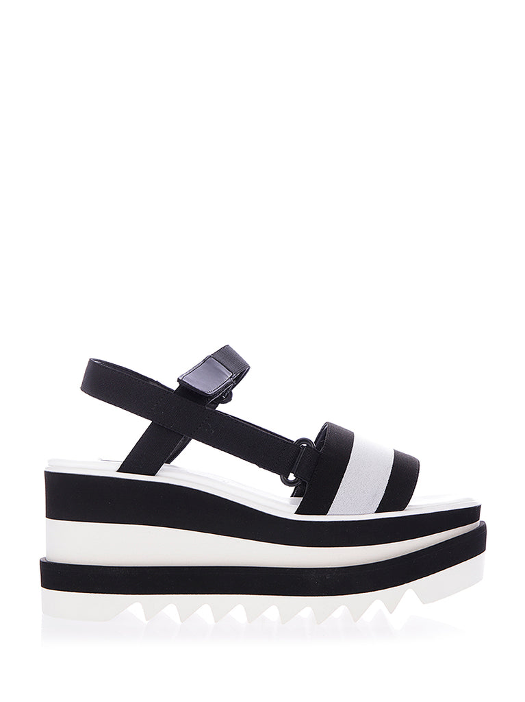 ddf5b6dff9f Stella McCartney Elyse Striped Platform Sandals – Cettire