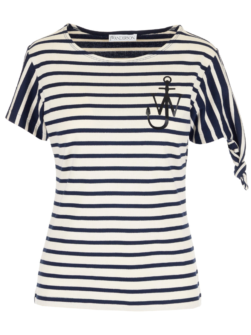 JW ANDERSON STRIPED CONTRAST T