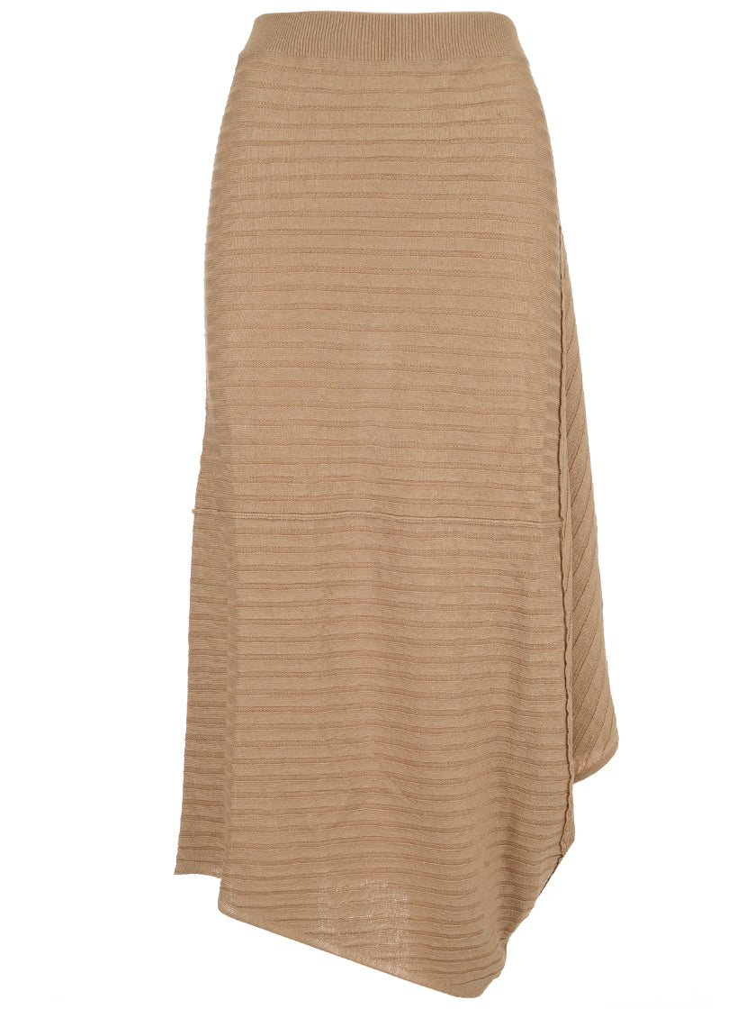 JW ANDERSON RIBBED ASSYMETRIC SKIRT