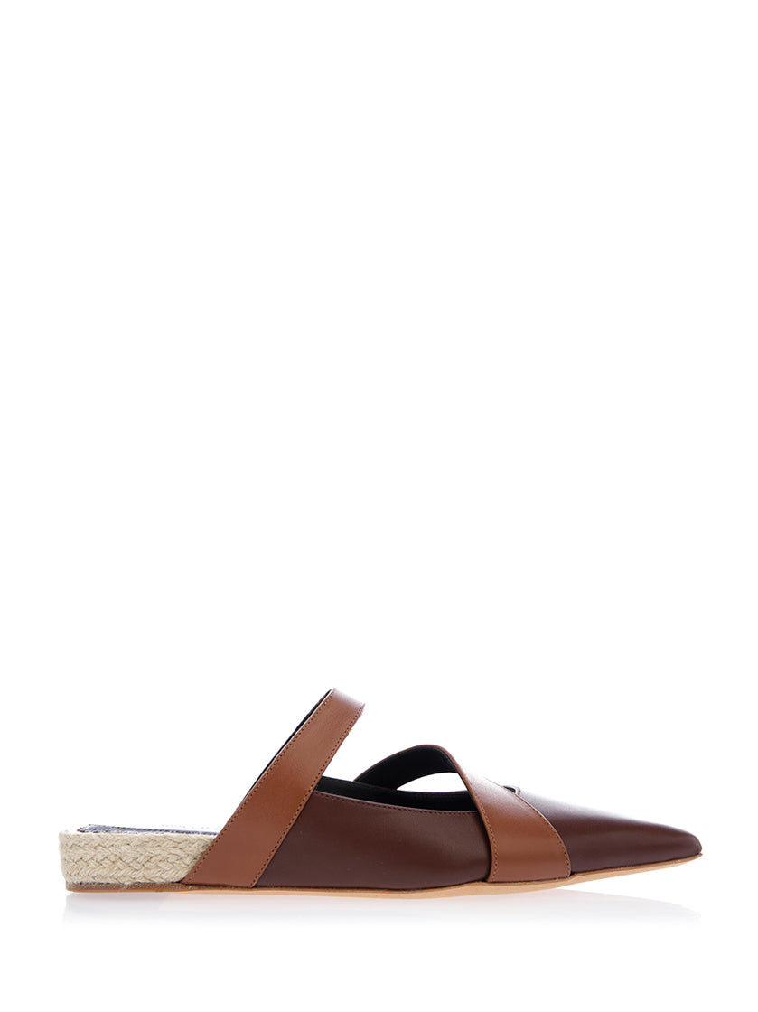 JW ANDERSON DOUBLE STRAP SLIP ON MULES