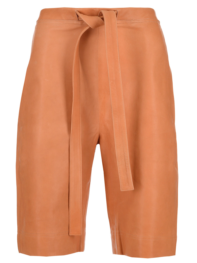 JW ANDERSON LEATHER SHORTS