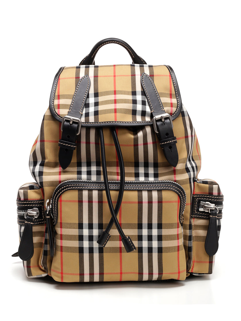 BURBERRY MEDIUM CHECKED BACKPACK
