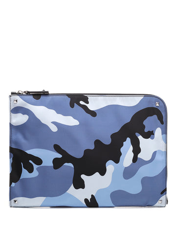 Valentino Garavani Camouflage Document Case