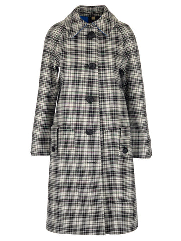 Burberry Checked Collared Coat