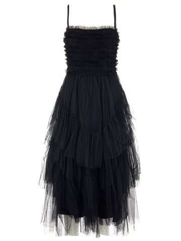 Red Valentino Tulle Flounce Dress