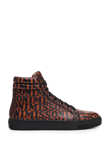 Missoni High Top Letter Sneakers