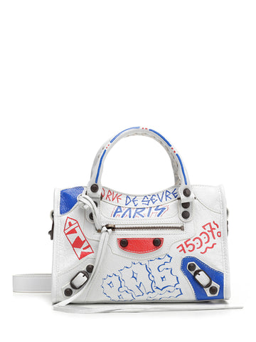Balenciaga Mini City Graffiti Crossbody Bag