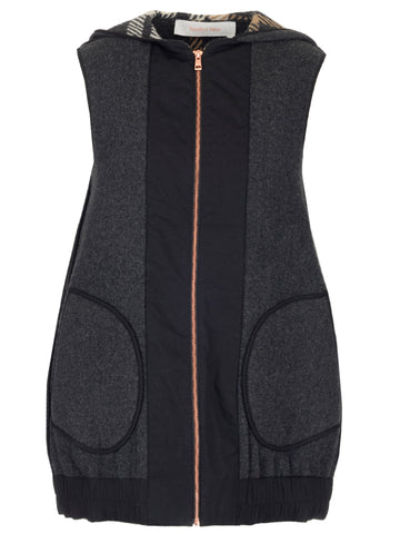 See By Chloé Zip Hooded Front Pocket Gilet