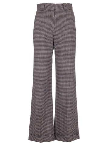 See by Chloé Houndstooth Flared Trousers