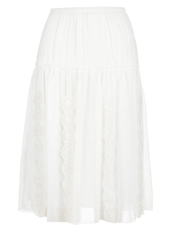 See By Chloé Textured Midi Skirt