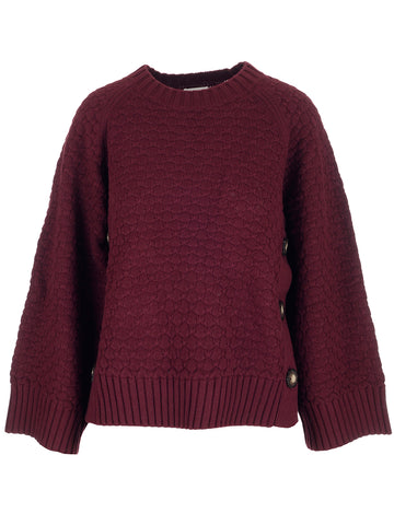 See By Chloé Button Detail Knitted Jumper
