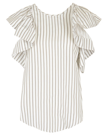 See By Chloé Ruffle Sleeve Top