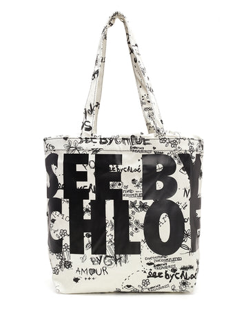See By Chloé Logo Tote Bag