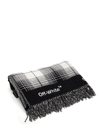 Off-White Plaid Scarf