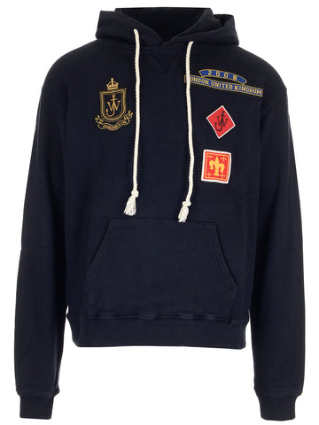 JW Anderson Patch Design Hooded Sweater