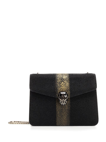 Bulgari Serpenti Forever Galuchat Crossbody Bag