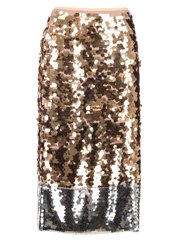 N°21 Sequinned Tube Skirt