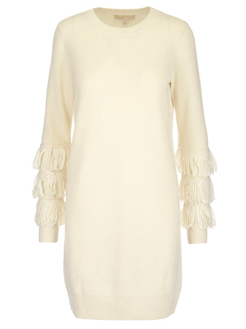 Michael Michael Kors Fringed Sleeves Dress