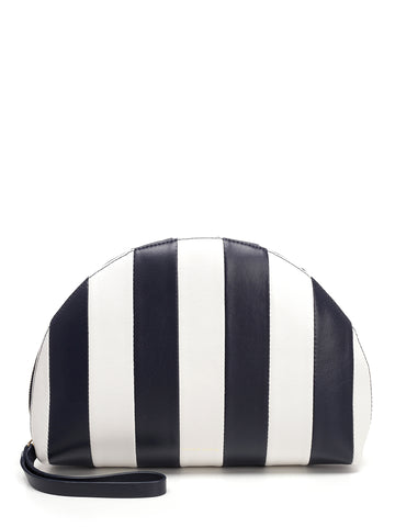 Mansur Gavriel Mini Striped Moon Clutch