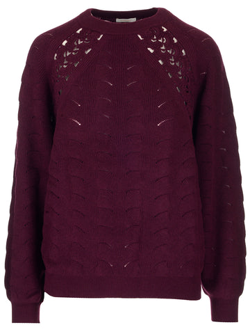See By Chloé Crochet Detail Jumper