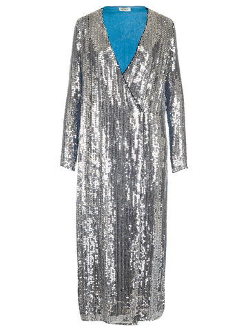 Attico Sequin Robe Dress
